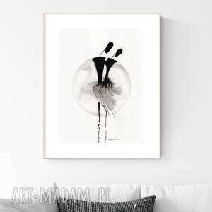 art krystyna siwek grafika 30x40 cm wykonana ręcznie, abstrakcja, elegancki