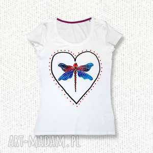 bluzki bluzka na prezent ręcznie malowana bawełniana, bluzka, koszulka, t shirt