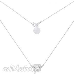 handmade naszyjniki srebrny naszyjnik z kwadracikiem