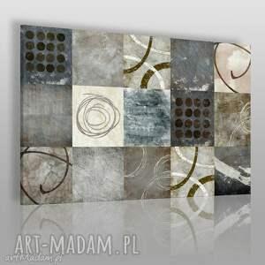 obrazy obraz na płótnie - abstrakcja kształy 120x80 cm 23201
