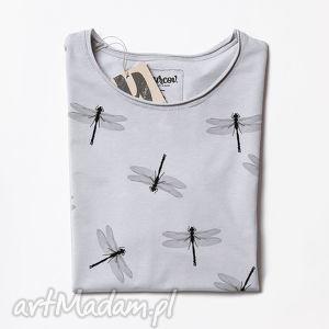 ręcznie robione bluzki dragonflies tunika z nadrukiem