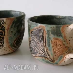 ręcznie robione ceramika kubki omszałe miłorzęby