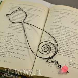 ręcznie robione zakładki kotka leokadia - zakładka do książki