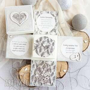 ręcznie wykonane scrapbooking kartki eksplodujące pudełeczko ślubne. Personalizowana