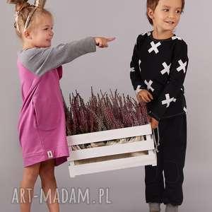 oryginalny prezent, cudi kids sukienka fuksja, sukienka, tunika, falbaki, dziewczynka