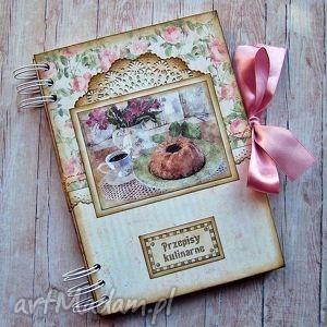 różowy przepiśnik, notes, przepisy, notatnik