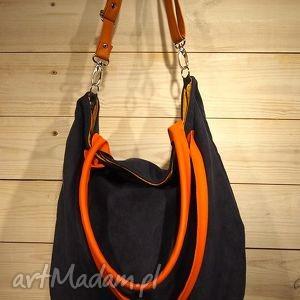 Mana xl granat&orange na ramię pracownia granat, ciemny, kontrast, gdynia, xxl,