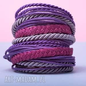 bransoletki whw big mess - violet storm, sznurkowa, sznureczkowa, zwijana, kolorowa