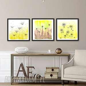 zestaw 2 prac 50x50cm, plakat, plakaty, obraz, akwarela, łąka, kwiaty