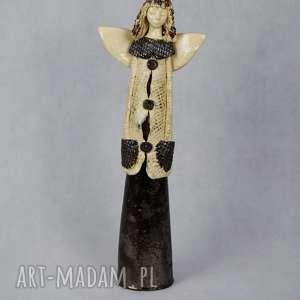 oryginalny prezent, anna pokrzywnicka anioł ceramiczny, wykonany