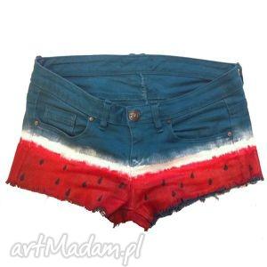ręczne wykonanie spodnie watermalon s - ręcznie malowane szorty