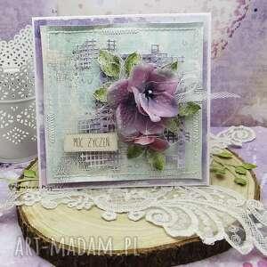 moc życzeń- kartka z pudełkiem, kartka imieniny, ślubna,