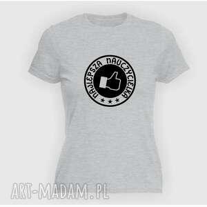 Prezent Koszulka z nadrukiem dla nauczycielki, prezent na dzień edukacji, super