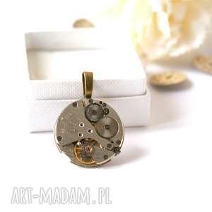 święta prezent, wisior z mechanizmem 4, werk, mechanizm, zegarkowy, unisex