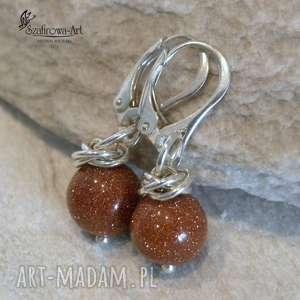 f148b61032addd ... piaskowe - kolczyki, piasek, srebro, delikatne, eleganckie, błyszczące