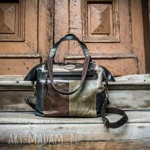 skórzana, ręcznie wykonana torebka w stylu vintage, oryginalna torba od ladybuq