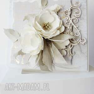 scrapbooking kartki ślubna elegancja - w pudełku, ślub, zaproszenia, rocznica