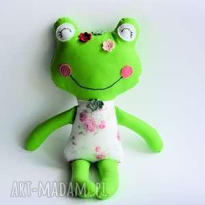 Panna Żabka - Marysia 46 cm, żabka, dziewczynka, chrzciny, roczek, maskotka