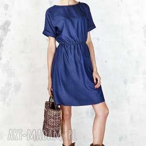 sukienki jeansowa sukienka na gumie