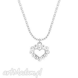 celebrate -heart with zircons - necklace, serce, celebrate, celebrytka naszyjniki