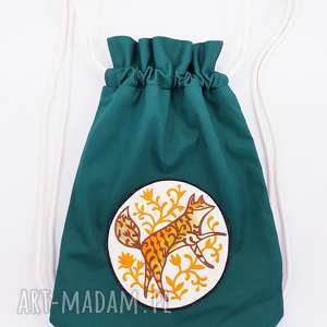 handmade plecak worek z lisem