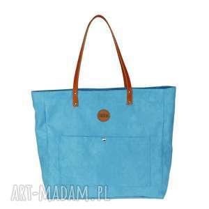 ad7864c3e01b6 torba worek waterproof. pracownia mana bardzo duŻa torba z kieszonkami  turkusowa, duża torba, ...