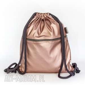 Gawka worek, plecak, metaliczny, połysk, pudrowy