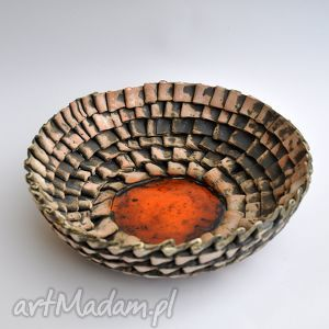 ceramika surowa misa w zakładki, misa, patera, ceramika