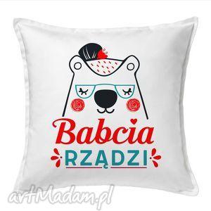 Prezent Poduszka Babcia Rządzi , dzieńbabci, babcia, dekoracje, prezent, tekstylia