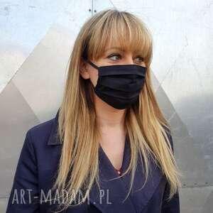 maseczki czarna maska kosmetyczna ochronna unisex męska damska bawełna