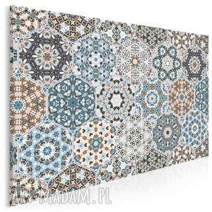 obraz na płótnie - heksagony marokański wzór 120x80 cm 55401