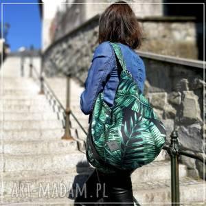 ręcznie wykonane na ramię tropical hobo torba welurowa