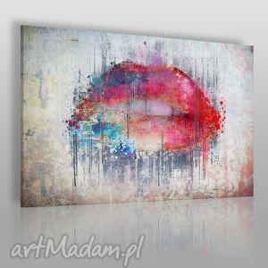 obraz na płótnie - abstrakcja usta 120x80 cm 23101, usta, abstrakcja, nowoczesny