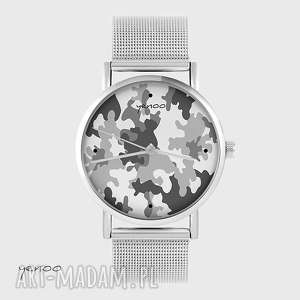 hand-made zegarki zegarek, bransoletka - moro szare metalowy