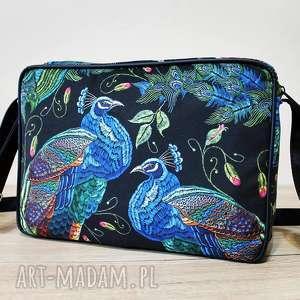 hand made pomysł na upominek single bag - pawie