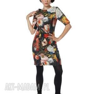 Sukienka w piękne kwiaty bawełna Dutch Tulips Kostium, bawełna, polska-marka