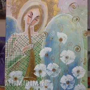 Anielska muzyka marina czajkowska anioł, muzyka, obraz, dom,