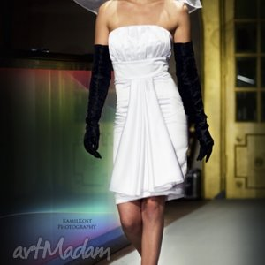 White pencil dress 34/36, sukienka, satyna, wesele, ślub, panna, młoda