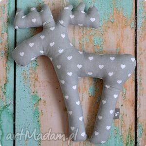 zabawka pan Łosiek - serce, zabawka, przytulanka, maskotka, łoś, renifer