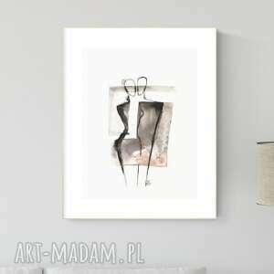 obraz ręcznie malowany 30 x 40 cm, nowoczesna abstrakcja, 2664393