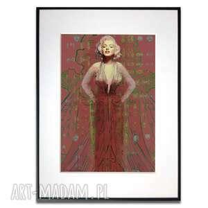grafika w ramie suknia marilyn monroe no 2 30x40, monroe, na prezent, fashion