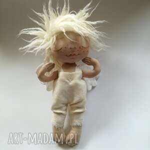 hand made dekoracje e-piet aniołek - dekoracja ścienna - figurka tekstylna ręcznie szyta