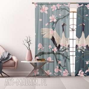 dekoracje komplet bawełnianych zasłon hanami, zasłony, fototapeta, bawełniane