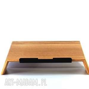 Drewniana podstawka laptopa - stojak na laptopa, drewniany, drewno, natura, naturalny