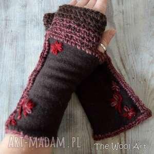 rękawiczki mitenki - rękawiczki, mitenki, prezent, nadłonie