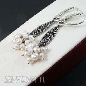 perełki kolczyki, perły, grona kolczyki biżuteria, pod choinkę prezent