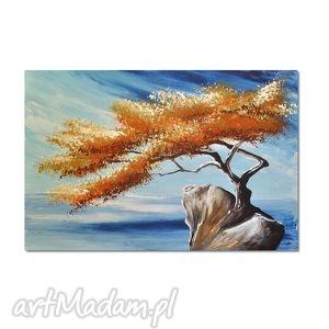 obrazy samotne drzewo 3, nowoczesny obraz ręcznie malowany, obraz, nowoczesny,