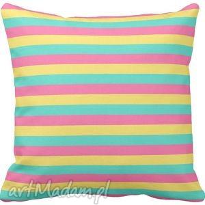 poszewka na poduszkę dziecięca kolorowe paski 3017 - poszewka, pościel