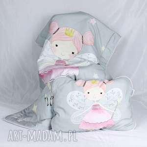 ręcznie zrobione pokoik dziecka zestaw do łóżeczka kocyk i płaska poduszka