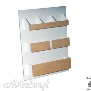 SET2 - Organizer drewniany nad biurko, na ścianę Przegródki zestaw organizerów